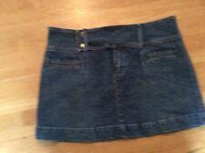 Rusty - Blue Jean / Denim Mini - SKIRT stretch size 7