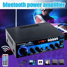 2 Channel 1000 Watt 110V bluetooth Stereo Car Home Power Amplifier AMP FM USB SD