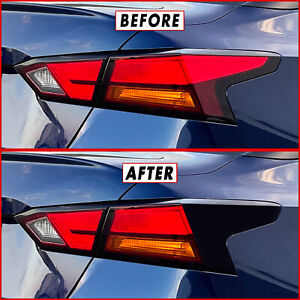 FOR 19-21 Nissan Altima Tail Light Cutout Accent GLOSS BLACK Precut Vinyl