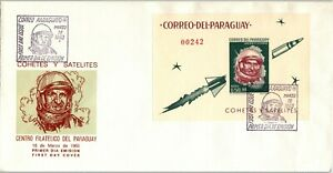 PARAGUAY FDC Space Specialized: LOT #15 Walter SCHIRRA Astronaut 1963 $$$