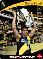 ✺New✺ 2019 RICHMOND TIGERS AFL Premiers Card MARLION PICKETT Teamcoach
