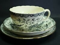 Victorian Antique Bone China Trio Cup Saucer