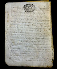 ANTIQUE PARCHMENT 1718   8 pages
