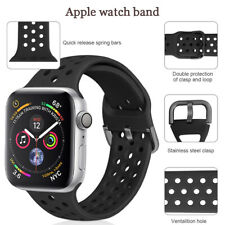 Luxury silicone soft watch Bands for Apple Watch 38mm 40mm 42mm 44mm Full Series
