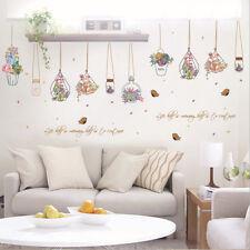 Beauty Flower Basket Bottle Mural Vinyl Wall Decal Sticker Kids Room Home Decor