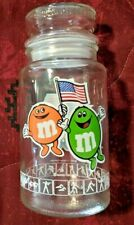 Vintage 1980 M&M Glass Jar With Lid LA Olympics 1984