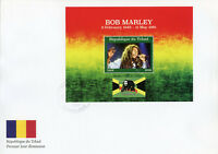 Chad 2018 FDC Bob Marley Reggae Music 1v M/S Cover Flags Famous People Stamps