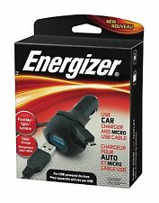 Energizer PC-1CACMC USB 5W Car Charger with Micro USB Cable - NEW