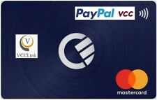 VCC Virtual Credit Card For PayPal Verification Work WorldWide Fast Delivery