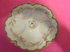 Antique Haviland Co.  5 shell Gold Rim Oyster Plate For Weichel & Millar Pa.(K)