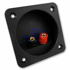 Round/Square Recessed Speaker Binding Post Terminal Connector Plate SubWoofer