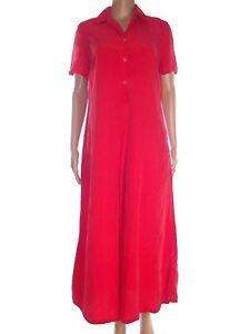 Aspesi basic abito dress donna lungo rosso svasato seta made italy 6 l large