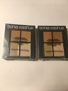 Lot of 2 - Sonia Kashuk Hidden Agenda Concealer Palette Medium-08  FREE SHIPPING
