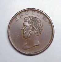"(1811-14) Great Britain - Essex-Walthamstow Halfpenny Token, ""Brutus""."