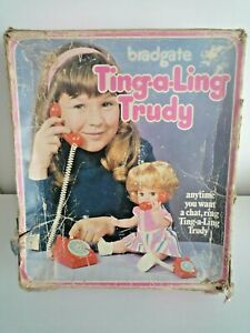 VINTAGE 1960'S BRADGATE TING-A-LING TRUDY DOLL IN ORIGINAL BOX INCOMPLETE