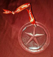 Corning Museum of Glass Round Christmas Ornament Clear Star Ny New York Souvenir