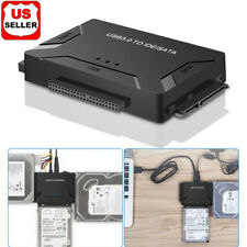"USB 3.0 to IDE & SATA Converter External Hard Drive Adapter Kit 2.5""/3.5"" Cable"