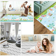 Baby Crawling Play Mat Large Sides Non-Slip Waterproof Portable For Playroom