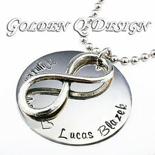 Personalised Any Name Infinity Necklace Birthday Valentine's Christmas Gift D191