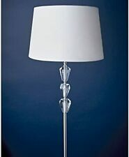 Amelie 3 Crystal Floor Lamp & White Shade Complete Lamp 160 x 36cm