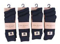 6 pairs Mens Plain black rich cotton socks, work socks UK Size 6-11