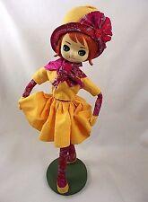 "Large 17"" Mod Doll Japan Bradley ? AS IS  Vintage Big Eyes Pose Stockinette"