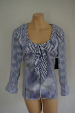 Career Button Down Shirt Hand-wash Only Striped Tops & Blouses for Women