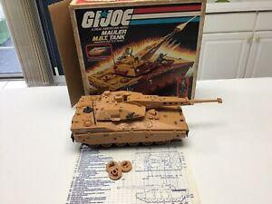 Vintage GI JOE 1985 MBT Mauler Tank Motorized Working W/box