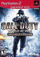 Call of Duty World at War Final Fronts PS2 NEW! WWII, BATTLEFIELD, BATTLE, FIGHT