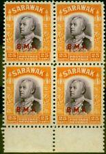 Sarawak 1945 25c Violet & Orange SG137 Fine MNH Block of 4
