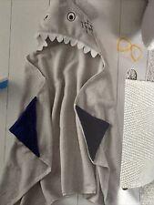 Lightning Bug Shark Hooded Towel 50� x 28� New Nwt Beach Bath Toddler Kids