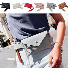 Girls Women PU Leather Mini Waist Bag Fanny Pack Phone Belt Purse Wallet Handbag