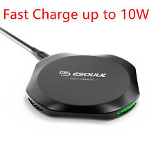 Fast Wireless Charger Charging Dock Pad for iPhone XS Max XR 8 Plus S10 e Note 9