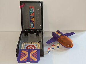 X-MEN VS MAGNETO Pocket Comics Jet Hangar 1994 Toy Biz Mini Action FIgure Set