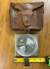 EUGENE DIETZGEN CO. Vintage GEOLOGIST / SURVEYOR COMPASS INCLINOMETER  with Case