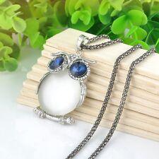 New-Owl-Rhinestone-Crystal-Pendant-Long-Sweater-Chain-Necklace-Jewelry-Fashion