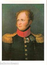 Carte 15 x 10,5 cm représentant Alexandre Ier de Russie, par François GERARD.