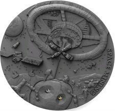 2018 Niue $1 SPACE MINING Chondrite Meteorite 1 Oz Silver Coin.