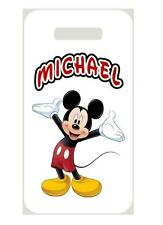MICKEY MOUSE BAG TAG Personalized NAME Info Custom For Luggage Backpacks