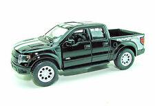 2013 Ford F-150 SVT Raptor Supercrew Cab Black Die-Cast Metal 1/46 Scale  KT5365