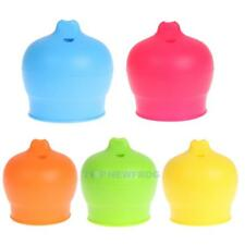 Creative Silicone Kids Baby Sippy Lids Silicone Stretchable Leakproof Cup TN2F