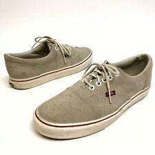 Vans California Men's WingTip Gray Suede Leather Sz 9.5 Shoes Sneakers Lace EUC