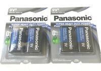4 FOUR Pieces Panasonic 9 Volts 9V Battery Batteries Super Heavy Duty EXP 2022