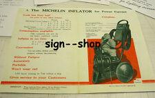Michelin Man RARE 1920's Air Compressor Dealer - Vintage Booklet Brochure NICE!