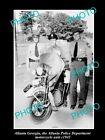 OLD LARGE HISTORIC PHOTO OF ATLANTA GEORGIA, POLICE SQUAD MOTORCYCLE UNIT c1945
