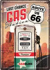 Nostalgic Art CARTE POSTALE en tôle/métal Route 66 Station d'essence - Last