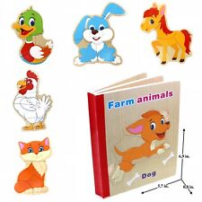 Educational Book Puzzle for Toddlers Baby Kids Children . Farm Animals 2