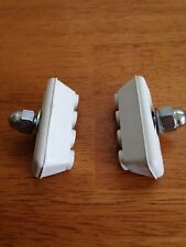 BMX BRAKE PAD SHOE WHITE PAIR CRUISER FREESTYLE KIDS OLD SCHOOL