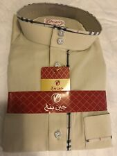 Thobe Janabinag Thoub Arabic Muslim Men Saudi Style (light Beige Green) Size 62
