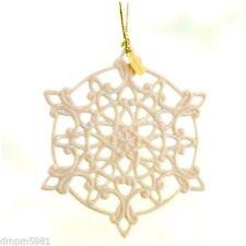Lenox 2011 Annual Snow Fantasies Snowflake Ornament Nib for Christmas Holiday